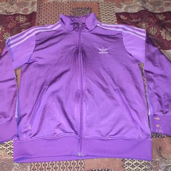 purple adidas original jacket
